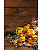 Copy Space, Squash, Autumn Decoration, Thanksgiving