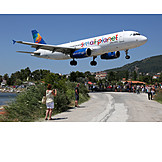 Airplane, Skiathos, Small Planet Airlines