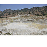 Volcano, Volcanic crater, Nisyros