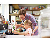 Father, Cooking, Daughter