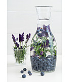 Blueberries, Lavender, Lemonade, Summer drink