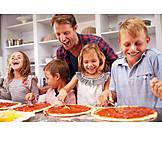 Kind, Vater, Kochen, Backen