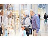 Senior, Couple, Purchase & Shopping, Window Display