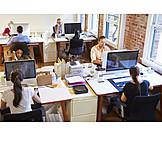 Arbeit & Beruf, Büro & Office, Kollegen, Großraumbüro