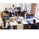 Job & Profession, Office & Workplace, Colleagues, Open Plan Office