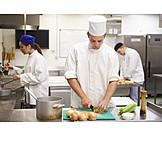 Gastronomie, Kochen, Küche, Schneiden, Koch