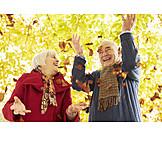 Fun & Happiness, Autumn, Vitality, Exuberance, Older Couple