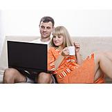 Paar, Freizeit & Entertainment, Laptop