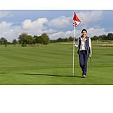 Golf Course, Flag Stick, Golf