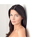 Beauty & Cosmetics, Woman, Brown Hair, Portrait