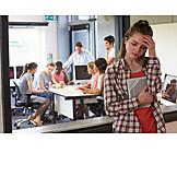 Schule, Schülerin, Stress & Belastung, Leistungsdruck