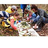 Children Group, Education, Nature Exploration