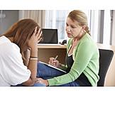 Patientin, Stress & Belastung, Psychotherapie, Therapeutin