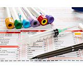 Laboratory, Lab Report, Blood Sample, Blood Examination, Blood Test