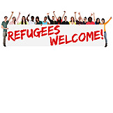 Greeting, Welcome, Refugee, Hospitality