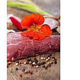 Meat, Nasturtium, Beef Steak, Beef