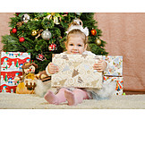 Child, Girl, Christmas, Christmas Eve, Christmas Present