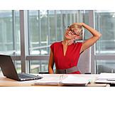 Business Woman, Stretching, Secretary