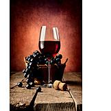 Genuss & Konsum, Weinglas, Rotwein