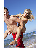 Couple, Fun & Happiness, Beach, Vacation