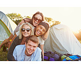 Summer, Youth culture, Friends, Camping
