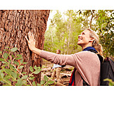 Woman, Tree, Nature relation