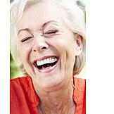 Senior, Laughing, Happy