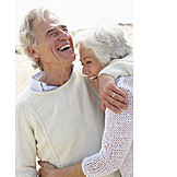 Laughing, Loving, Older Couple