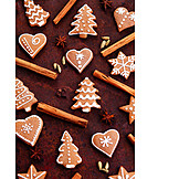 Pastry crust, Christmas cookies, Gingerbread