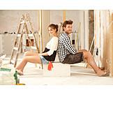 Paar, Hausbau, Renovieren, Heimwerken