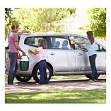 Father, Car, Washing, Car Wash