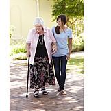 Grandmother, Senior, Care & Charity, Old Nurse