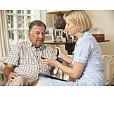 Senior, Care & Charity, Old Nurse, Blood Pressure