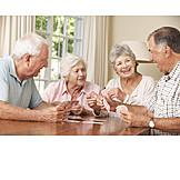 Senior, Nursing Home , Friends, Card Game