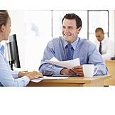 Businessman, Advice, Meeting, Businesswoman