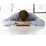 Geschäftsmann, Stress & Belastung, Büroangestellter