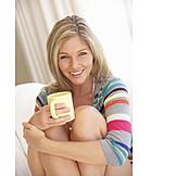 Frau, Sorglos & Entspannt, Heißgetränk