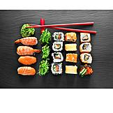Sushi, Maki, Nigiri, Menü, Japanische Küche