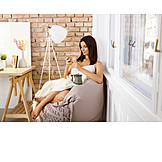 Woman, Domestic Life, Comfortable, Sms