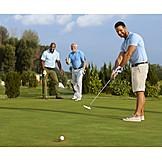 Golf, Putting, Golfing, Golfer