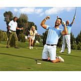 Golf, Winners, Cheering