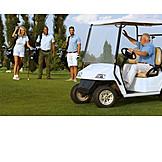 Golf Course, Golfing, Golf Cart