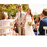 Hochzeit, Brautpaar, Hochzeitsgesellschaft