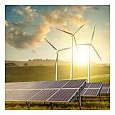 Energy, Pinwheel, Photovoltaic System