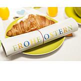 Croissant, Breakfast, Happy easter