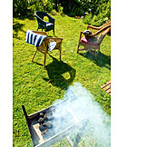 Barbecue, Wooden char grilled, Allotment