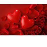 Love, Heart, Rose