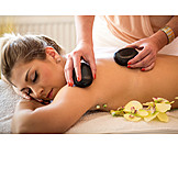 Woman, Massage, Lastone Therapy