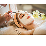 Treatment, Beauty spa, Facial mask