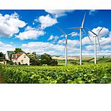 Windenergie, Solar, Nachhaltigkeit, Erneuerbare Energien, Energiesparhaus